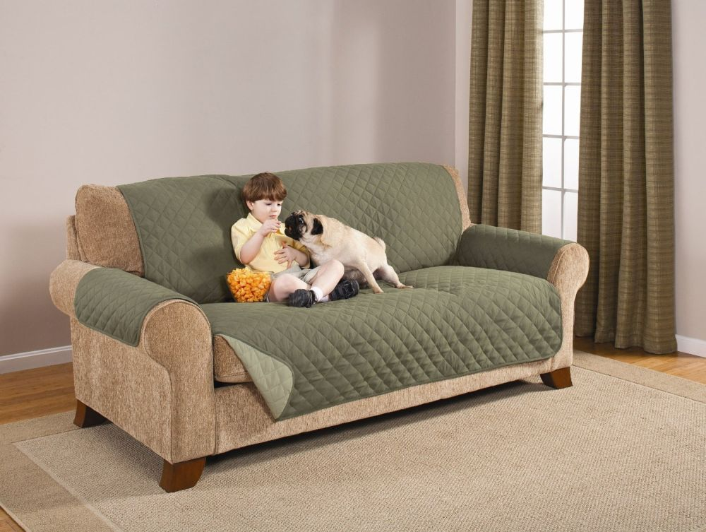green pet sofa covers couches protecting from dog hair and dust