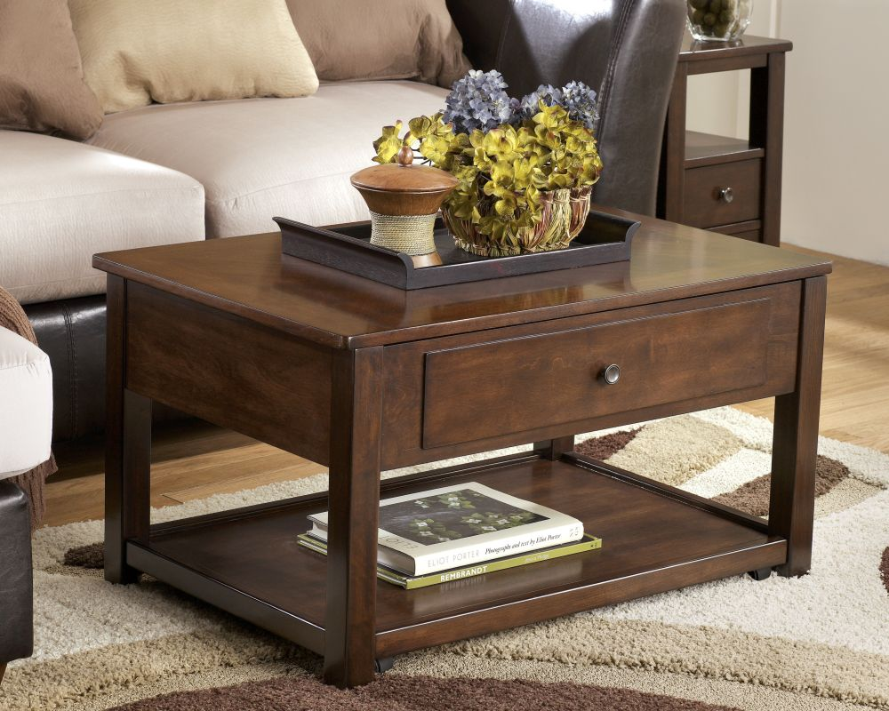 minimal accent norcastle coffee table in boxy shape with storage for living room