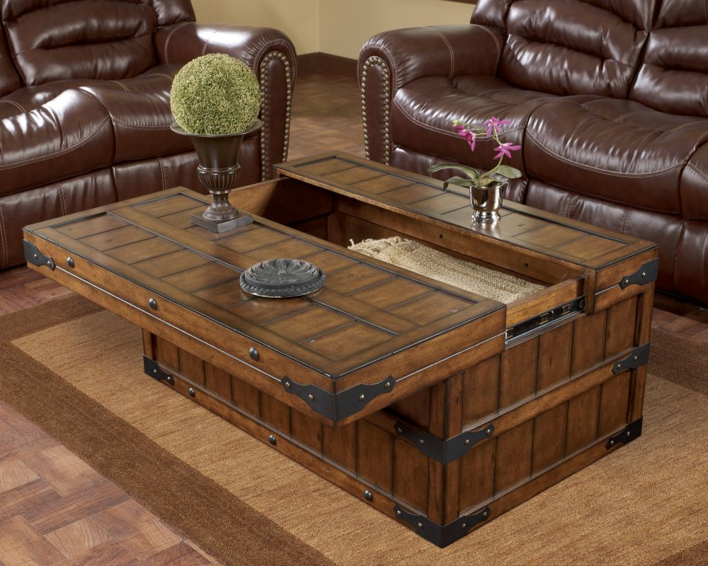 unique wooden norcastle coffee table with scrolled iron material