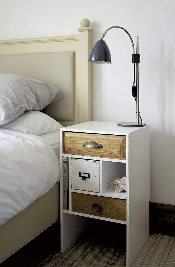 contemporary bedroom design with modern bedside table combine white palette with some wooden accents and unique storage astounding side table with storage feature