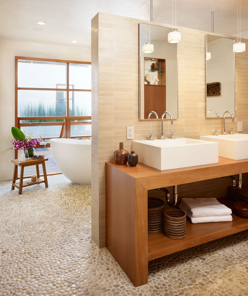 contemporary small bathroom with wooden vanity and ceramic rectangular sink amazing sink design for small bathroom