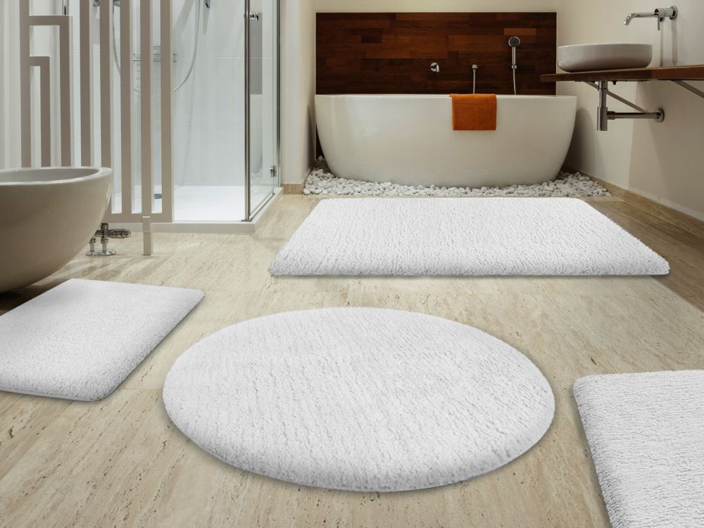 enchanting round white rug from shag type 2 round bathroom rugs