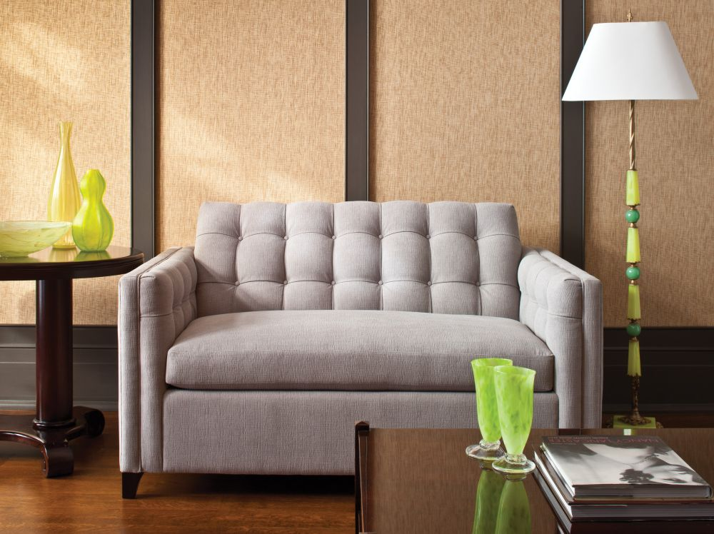 grey sleeper sofa for small spaces with tufted backrest extraordinary sleeper sofas for small spaces