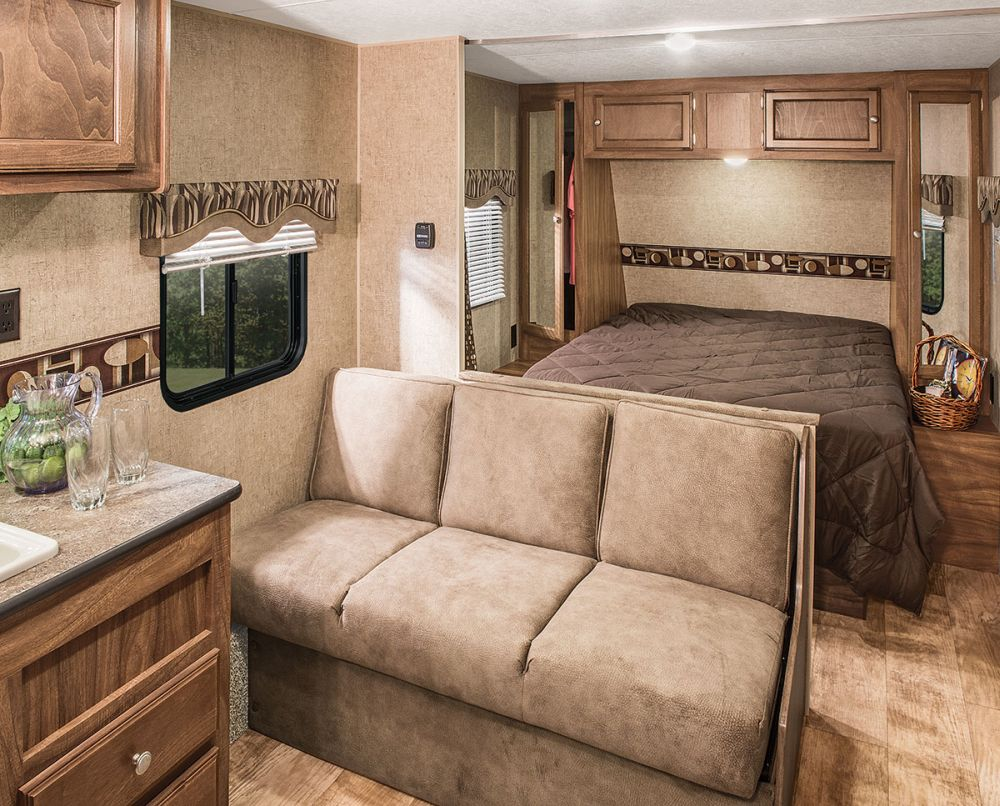 kz rv sportsmen show stopper le special sofa comfy rv sleeper sofa allows you to enjoy more relaxing and entertaining travel