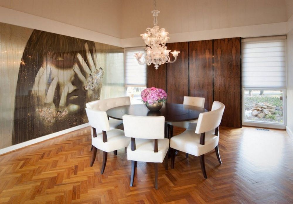 stunning dark dining wood table combines with cute chunky chairs having round dining room tables for 6 and 8 describing your uninterrupted relationship