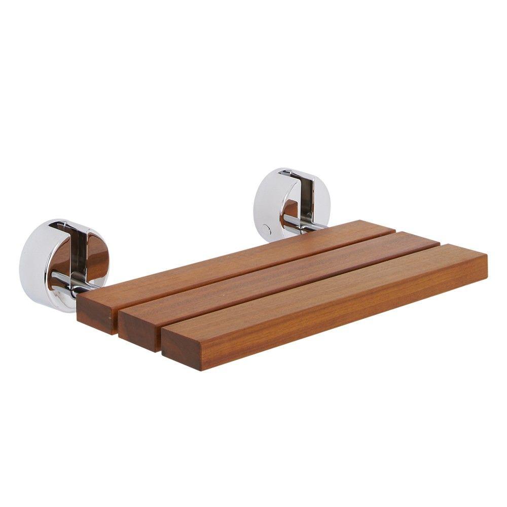 bengal teak folding shower seat with chrome brackets remarkable teak bathroom furniture