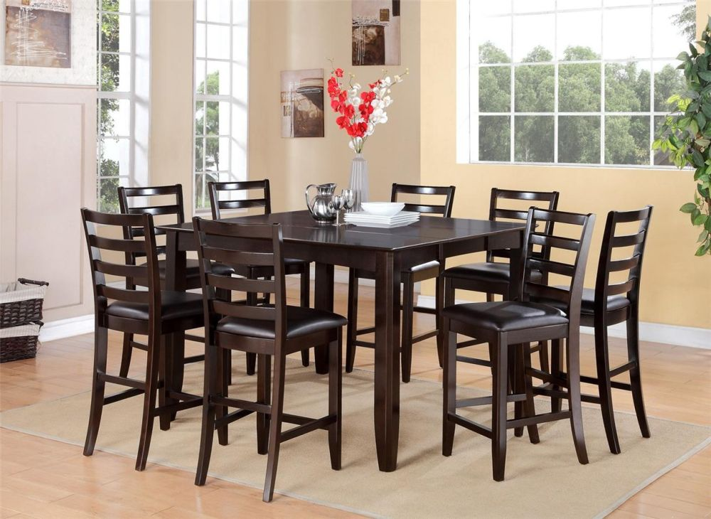 counter height dining room tables and chairs in dark color mesmerizing tall dining room tables as focal points