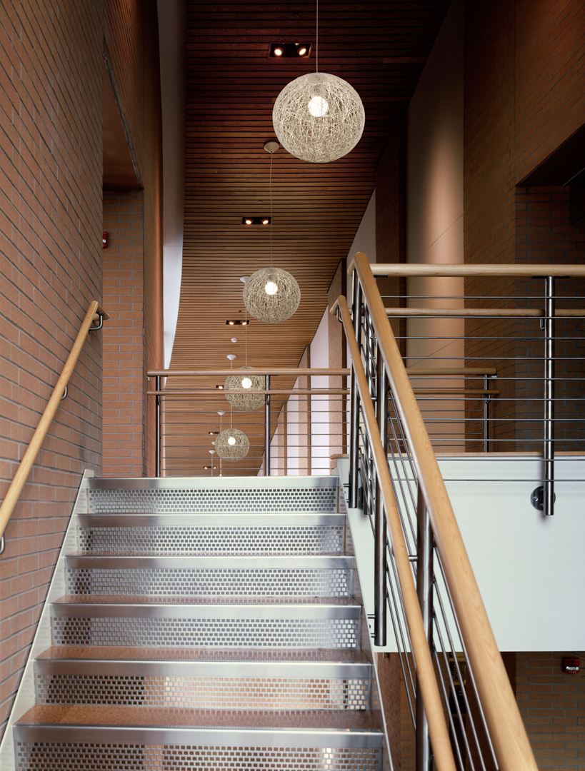 fabulous runner staircase for wooden house with gorgeous stairwell lighting comes from the big mess pendant lamps stunning stairwell lighting ideas for awesome staircase outlook