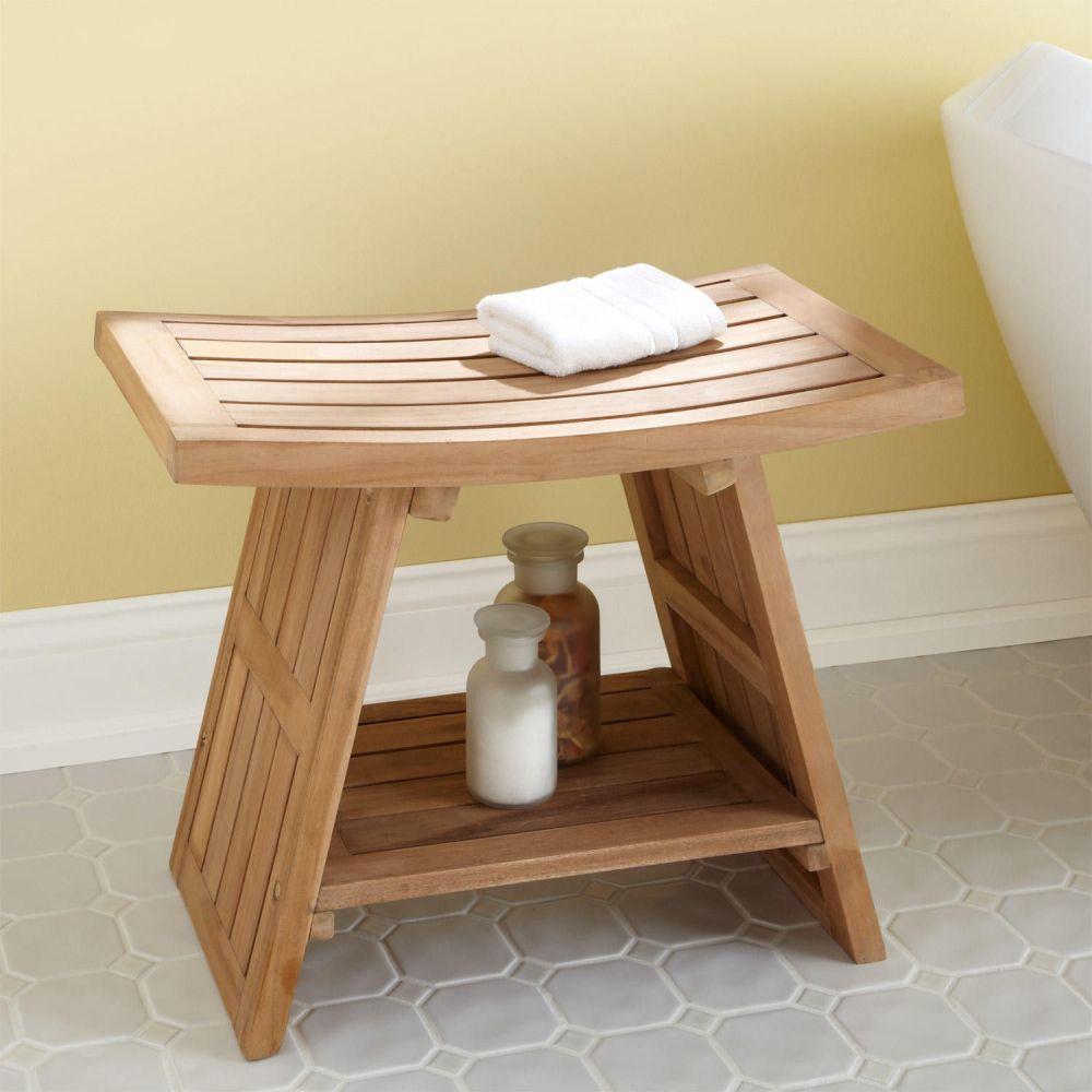 large teak asian style shower stool remarkable teak bathroom furniture