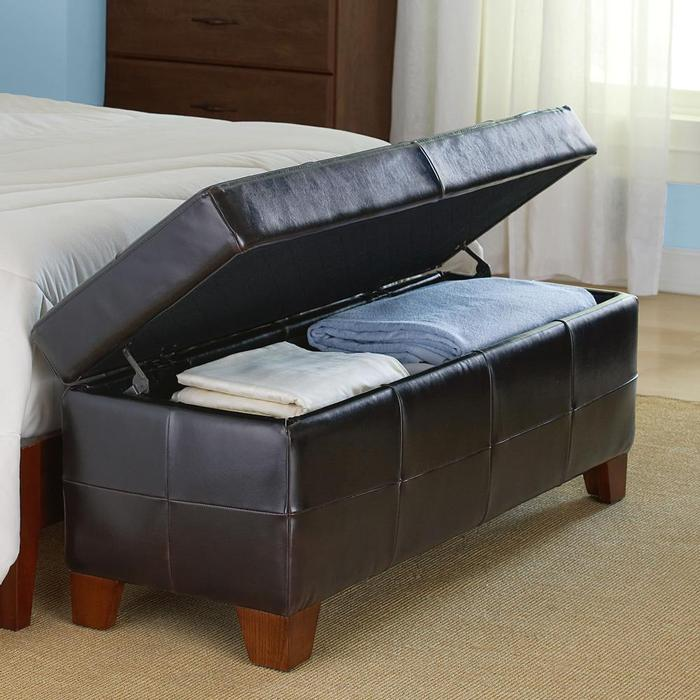 modest rectangle black leather storage bench dashing storage bench for bedroom that giving compact outlook and new nuance