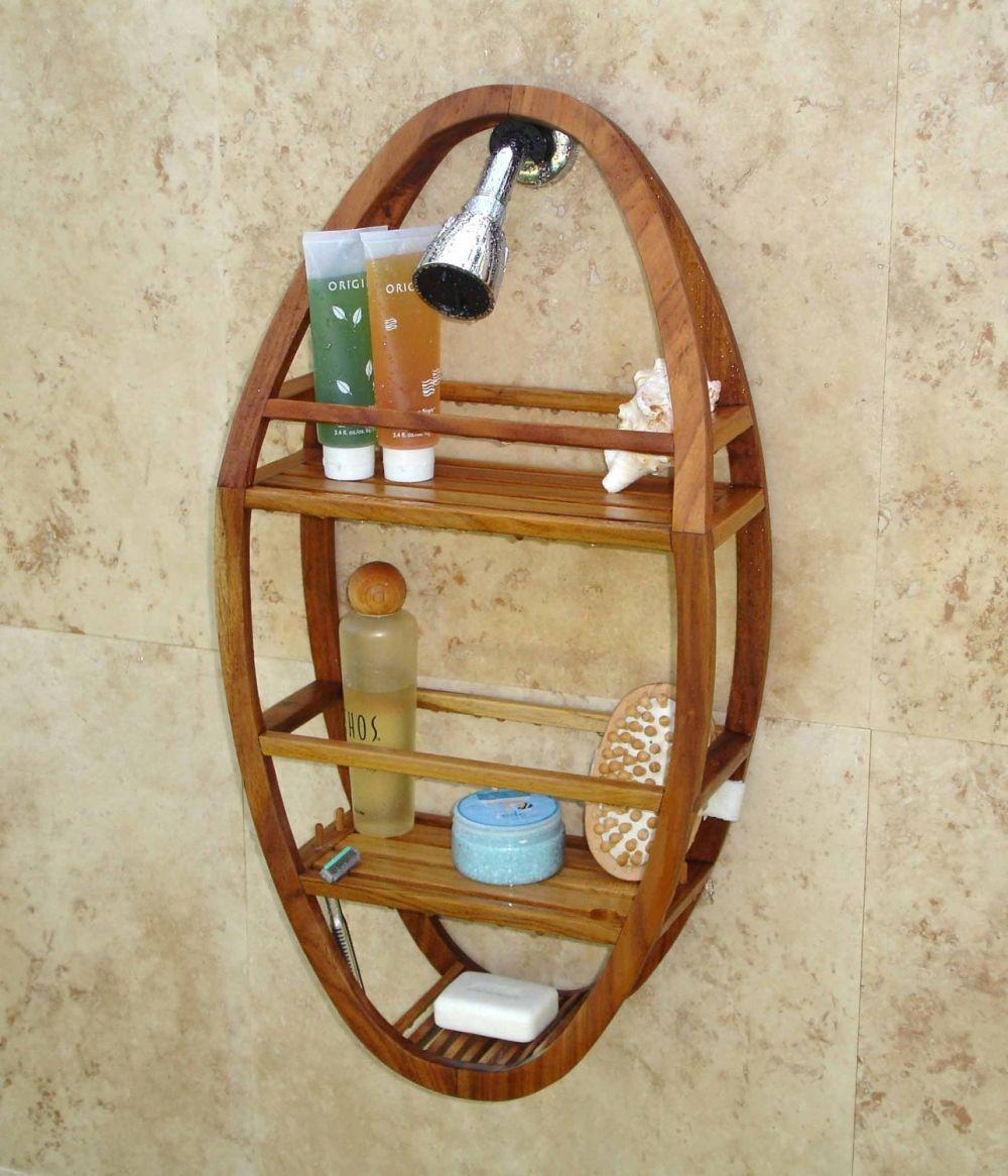 patented moa teak shower organizer remarkable teak bathroom furniture