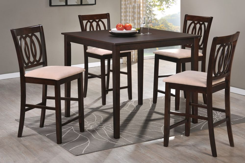 tall square dining room table with flat black finishing and sleek modern trims mesmerizing tall dining room tables as focal points