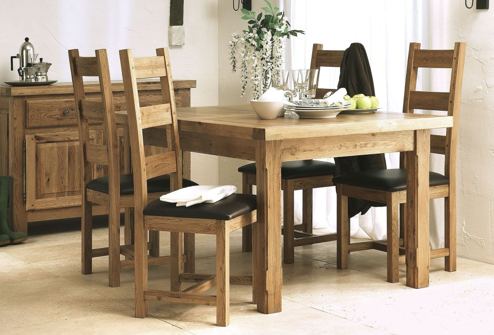 unfinished solid wood furniture for the square dining room maintaining the integrity of the family with solid wood dining room sets