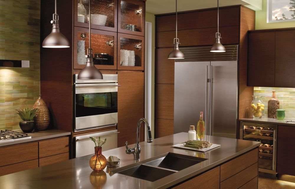 Beautiful Pendant Lamp Tracks Above Kitchen Island Track Lighting for Kitchen Shows How to Shine the Vibe Perfectly