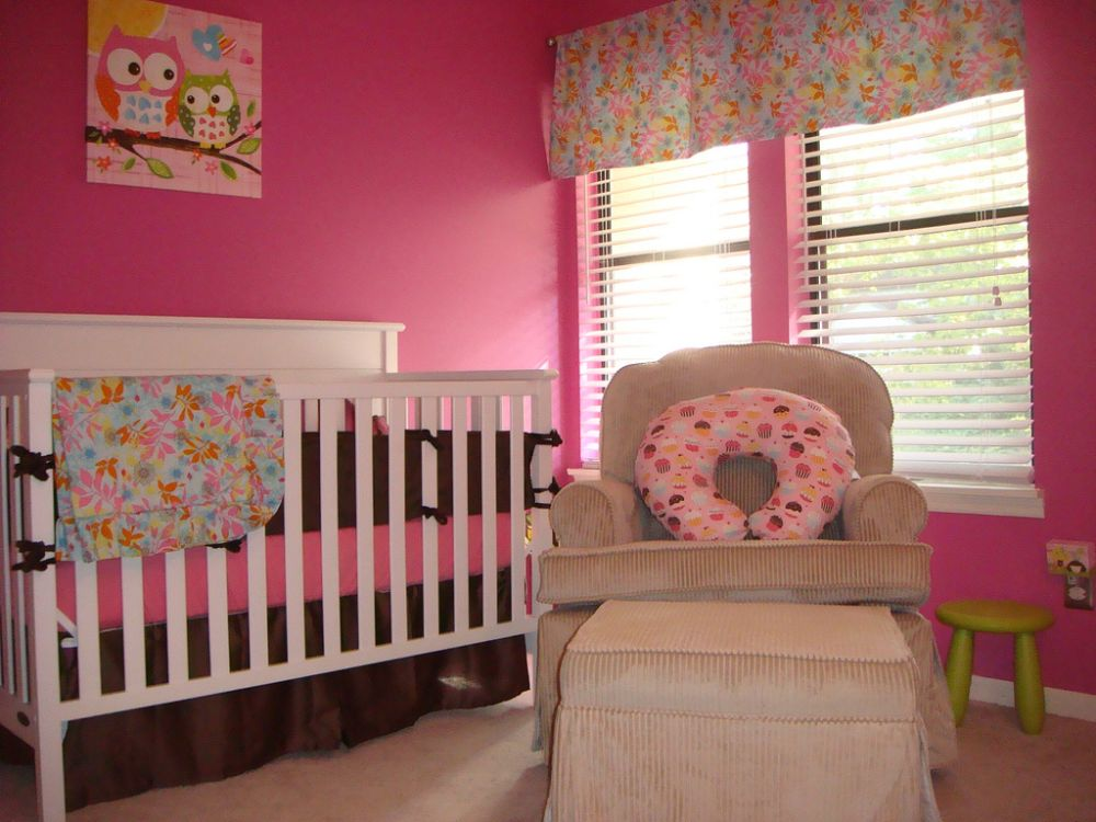 beautiful and stylish pink girl toddler's nursery captivating washable wall paint ideas for kids and interior space