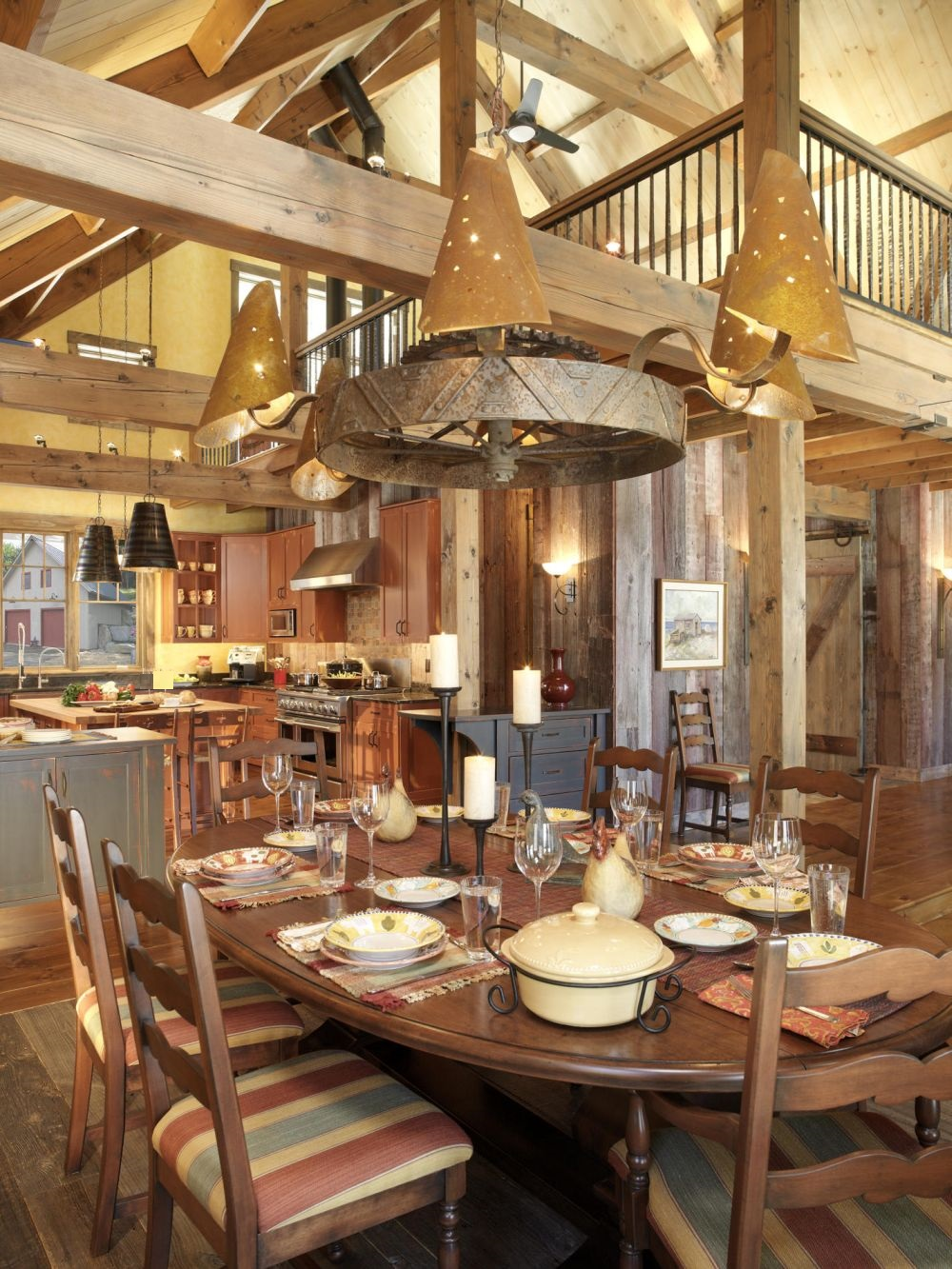 eclectic dining area for ranch house with candlestick lighting and the unique industrial chandelier antique western light fixtures that always dazzle from time to time