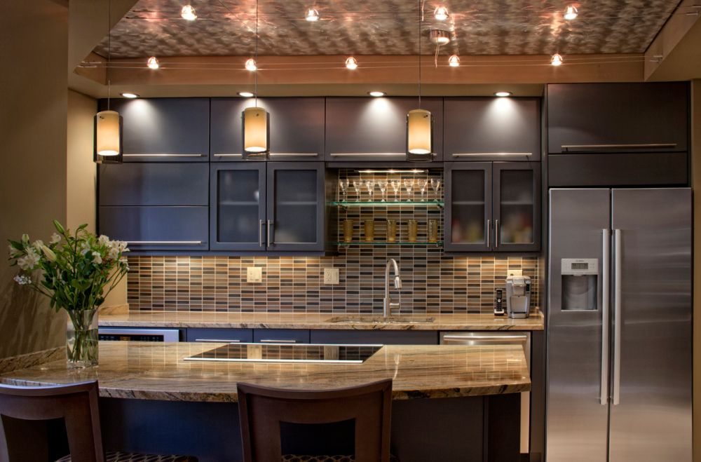 modern kitchen design with some wire with lamps attached transform into gorgeous twinkling stars track lighting for kitchen shows how to shine the vibe perfectly