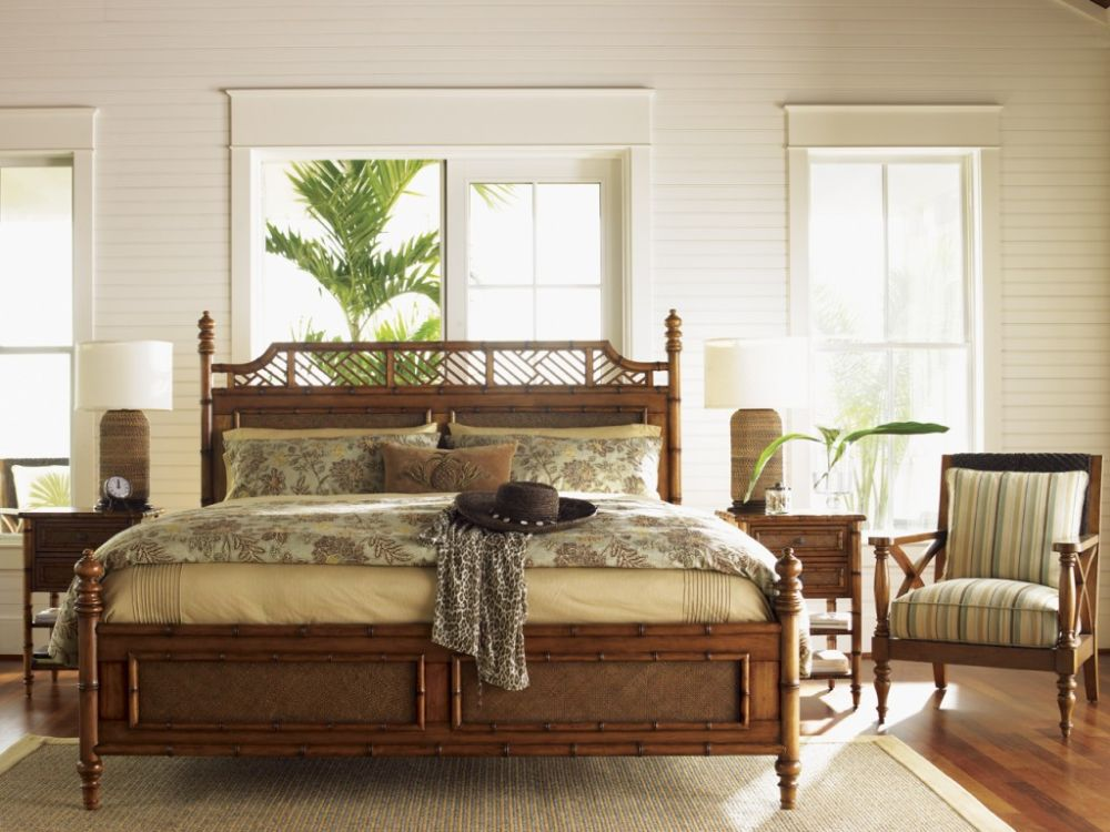 white tropical bedroom with vintage rattan furniture sets and high nightstand drawers stunning tropical bedroom furniture that affordable in cost