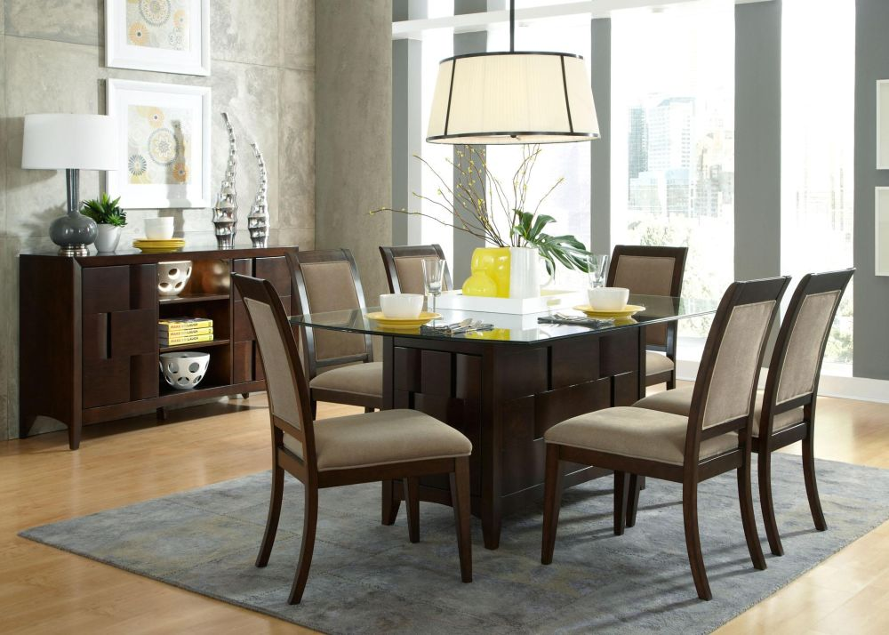 aria espresso dark wood and glass dining table beautiful wood and glass dining table