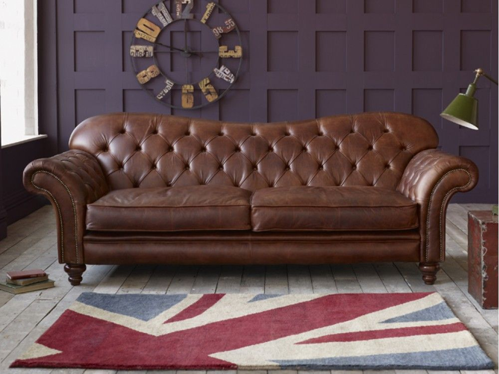 dark brown distressed chesterfield sofa on the white living room deck with tufted pattern durable snazzy distressed leather sofa coming with humble outlook