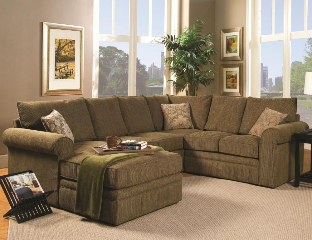 green fabric u shaped sectional sofa in the grey living room creating warm soul for everyone with u shaped sectional sofa