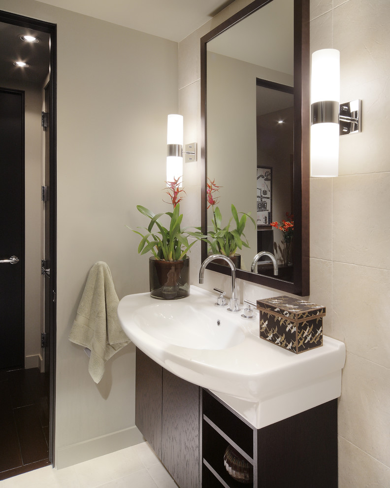 modern small white bathroom with arched nickel faucet and stylish wall sconces changing the old steel with the unbeatable brushed nickel bathroom accessories