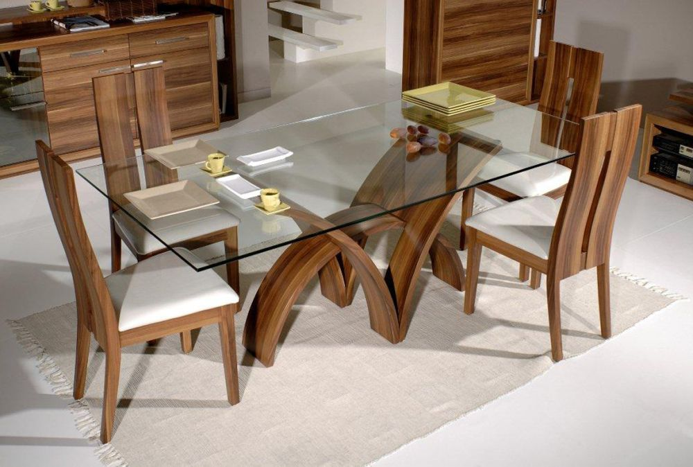 nice sets of wood dining table bases for glass tops beautiful wood and glass dining table