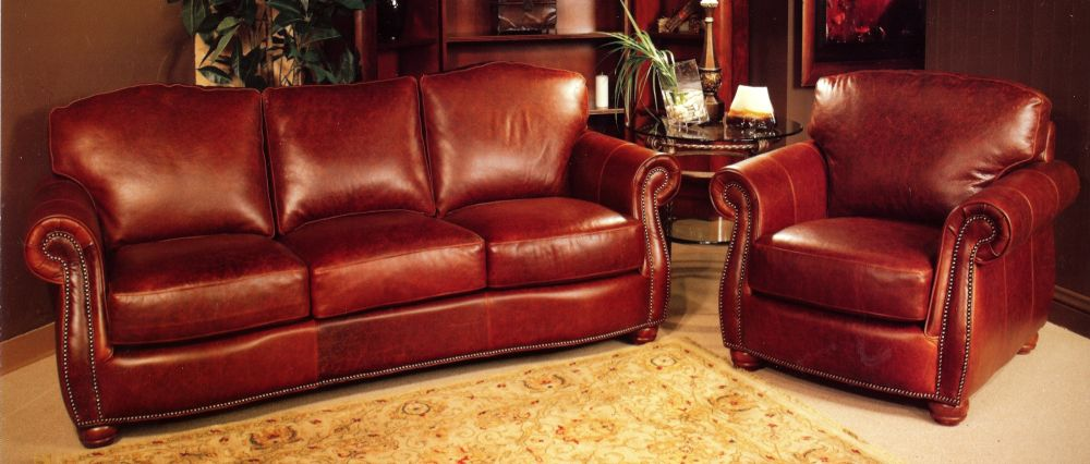 Reddish Brown Leather Sofa La Z Boy Dexter
