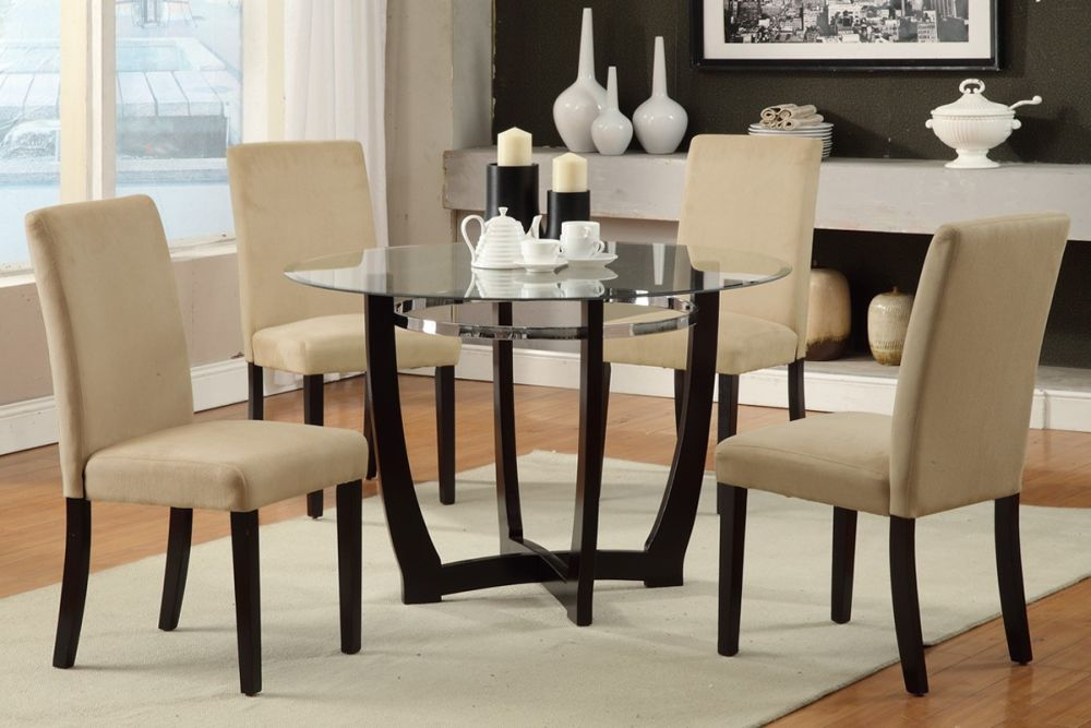 simple round glass and wood dining table and chairs with x frame beautiful wood and glass dining table