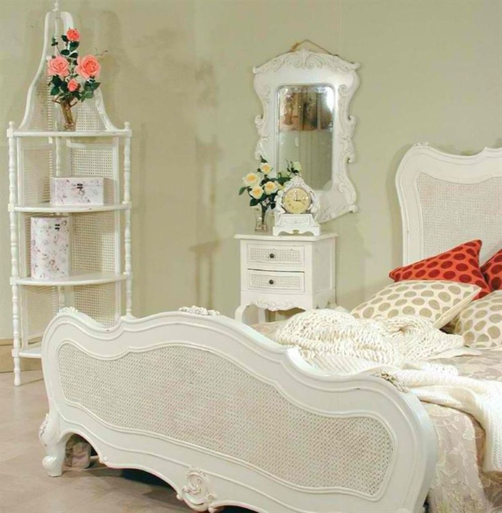 white classy bedroom design with traditional design plus some ornamentations alongside with the wicker decoration white bedroom furniture with some interesting wicker accents