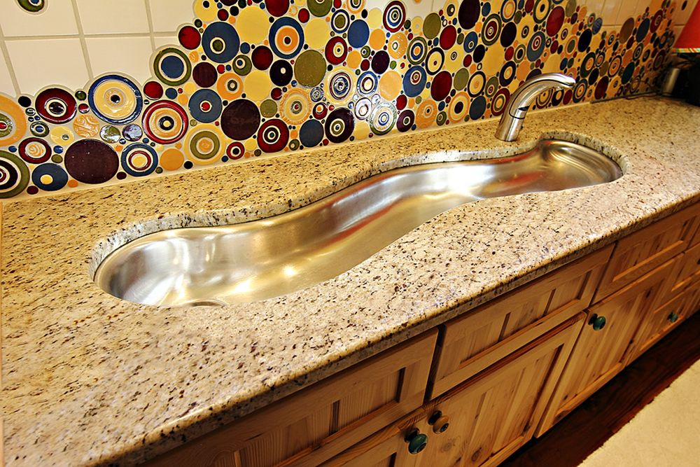fashionable curving stainless steel sink design in unique style stainless steel bathroom sinks – stunning bathroom design