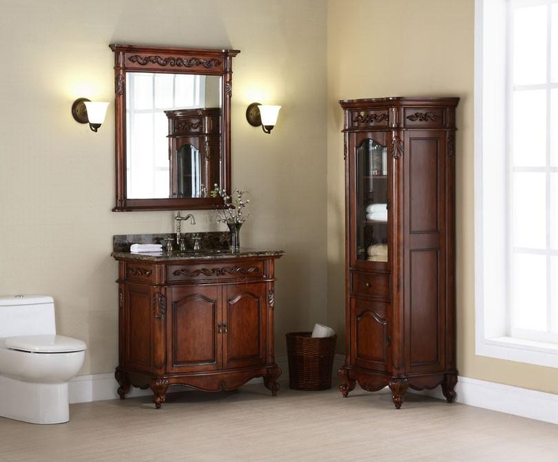 freestanding linen tower with stunning slim body and wooden bathroom vanity bathroom linen tower – space saver storage idea