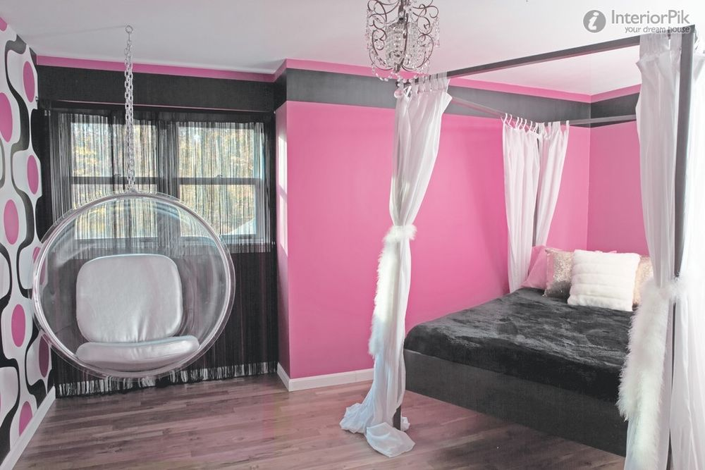 hanging chairs for teens bedroom w transparent material hanging chairs for bedroom – comfortable set for relax
