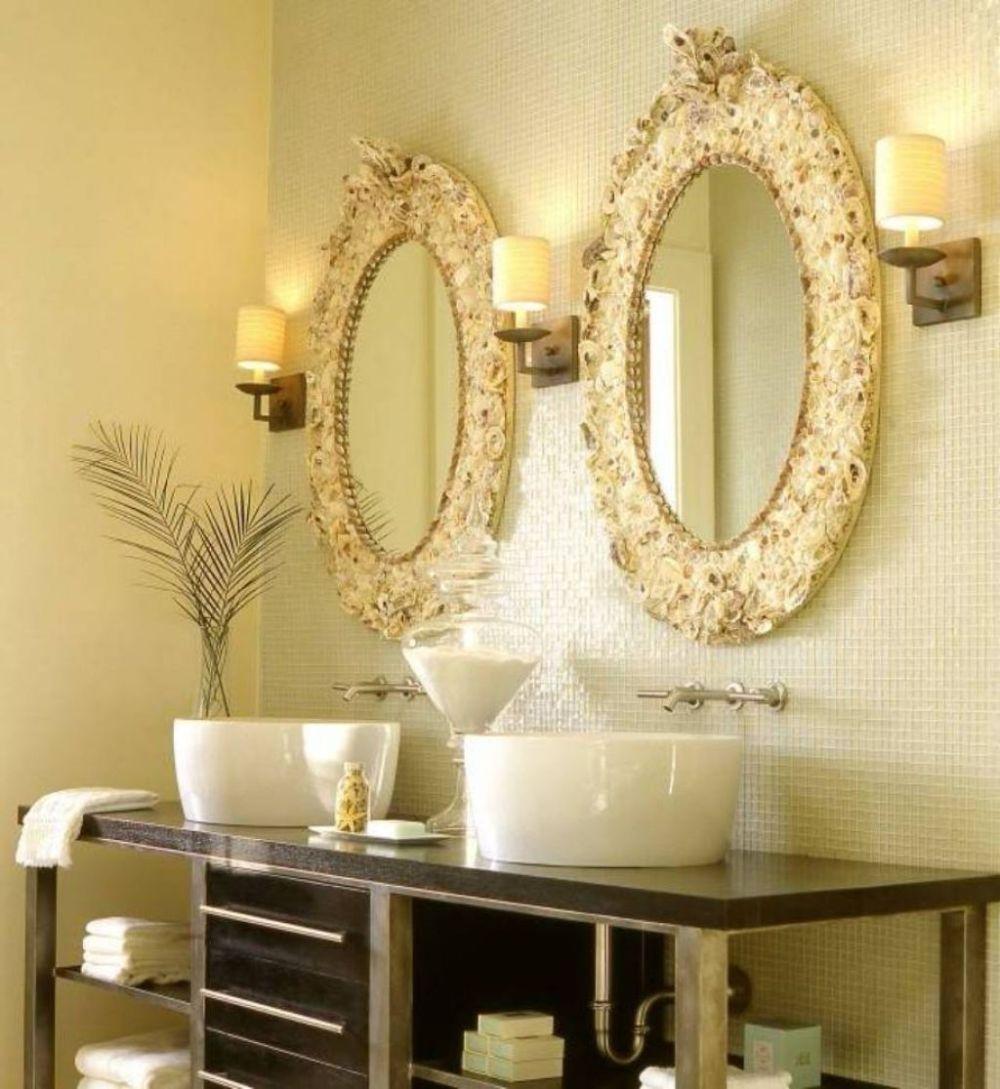 luxurious bathroom with golden tone plus lavish oval mirror design oval bathroom mirrors opens fashion catwalk in the bathroom