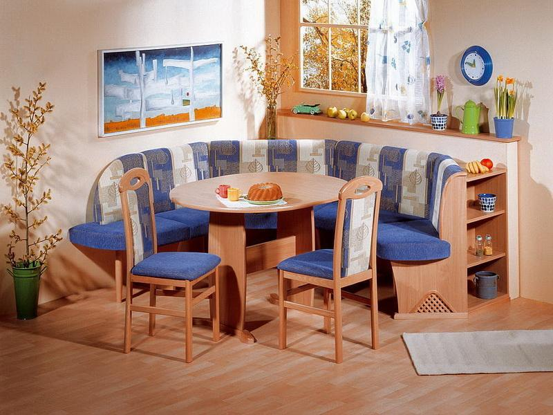 luxurious breakfast furniture set idea in navy blue tone combined to dark furnished wooden table and legs breakfast nook furniture with natural tone that you should know kitchen