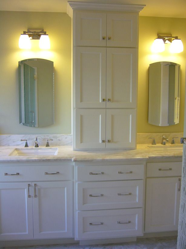 bathroom storage tower – fromwhite bathroom tower design with long cabinetry in the vanity section and looks perfect with glass accent accessible to space saver