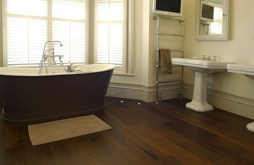 bathroom with oak engineered board baked and pre-oiled rejuvenating for bathroom flooring options