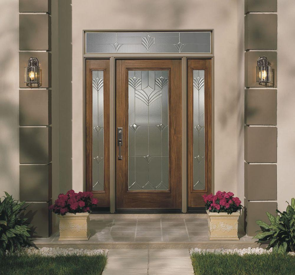 modern grey house with art decor fiberglass door amazing fiberglass exterior doors for the beauty of the facade house