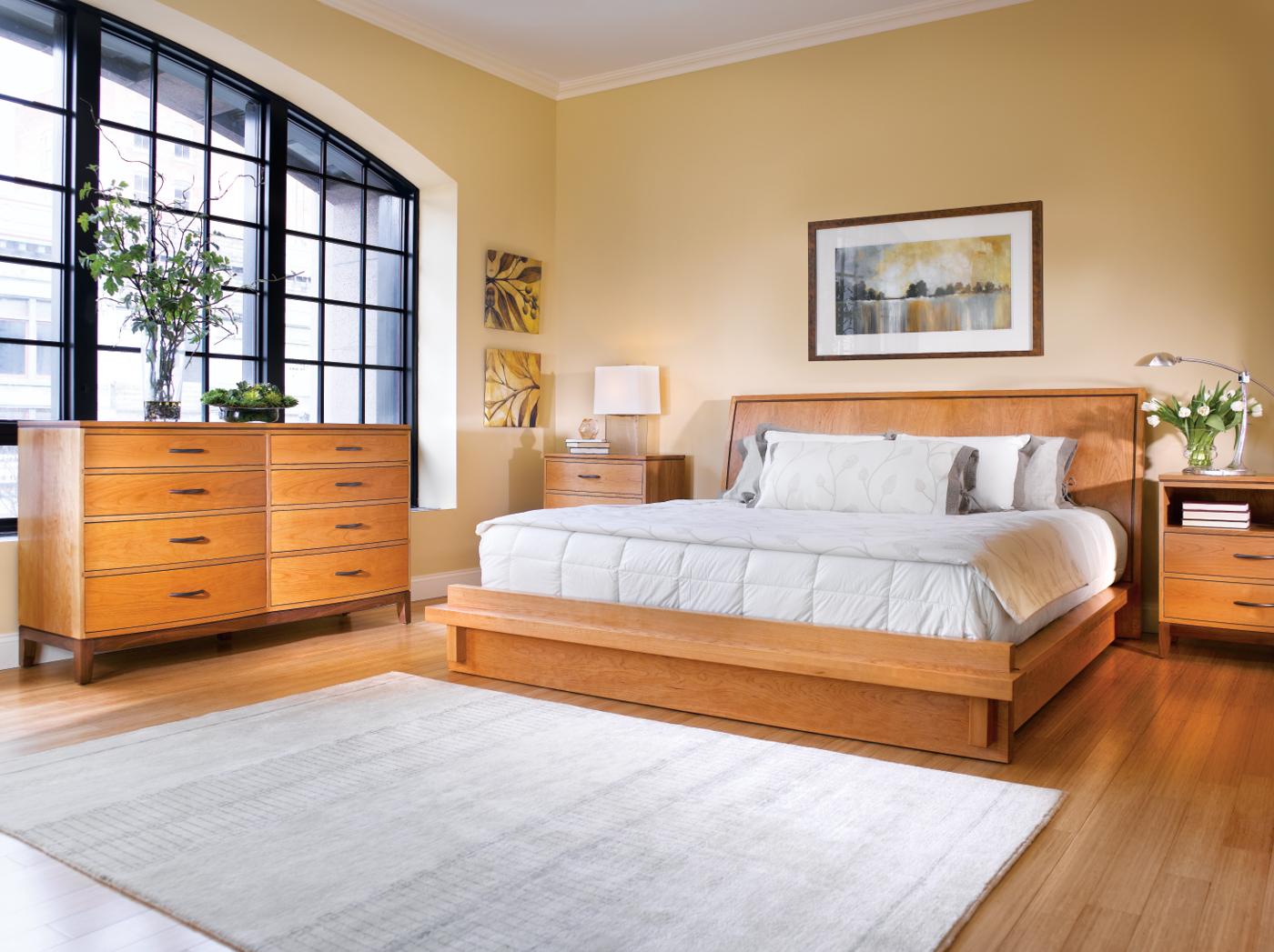 Stickley tribeca platform bed by metropolitan collection for Tribeca homes furniture