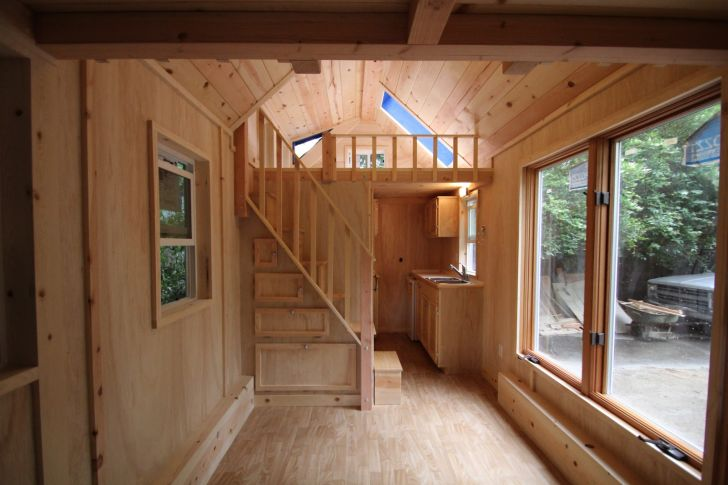 molecule tiny homes with stairs to loft living in small homes by molecule tiny homes