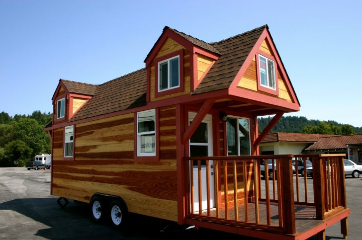 redwood tinyhouse molecule-tiny-homes-view-from-kitchen redwood tinyhouse with wheel living in small homes by molecule tiny homes