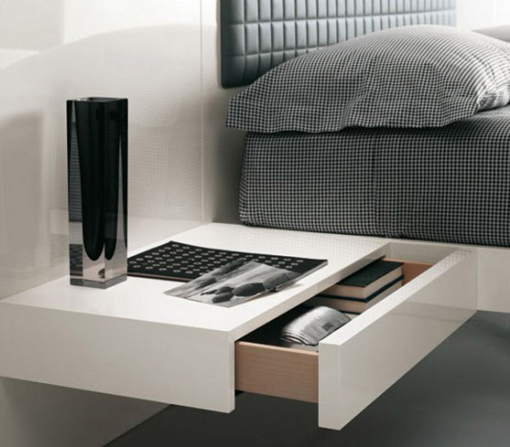 contemporary white hardwood polished floating nightstand with single drawer how to choose a wall mounted bedside table