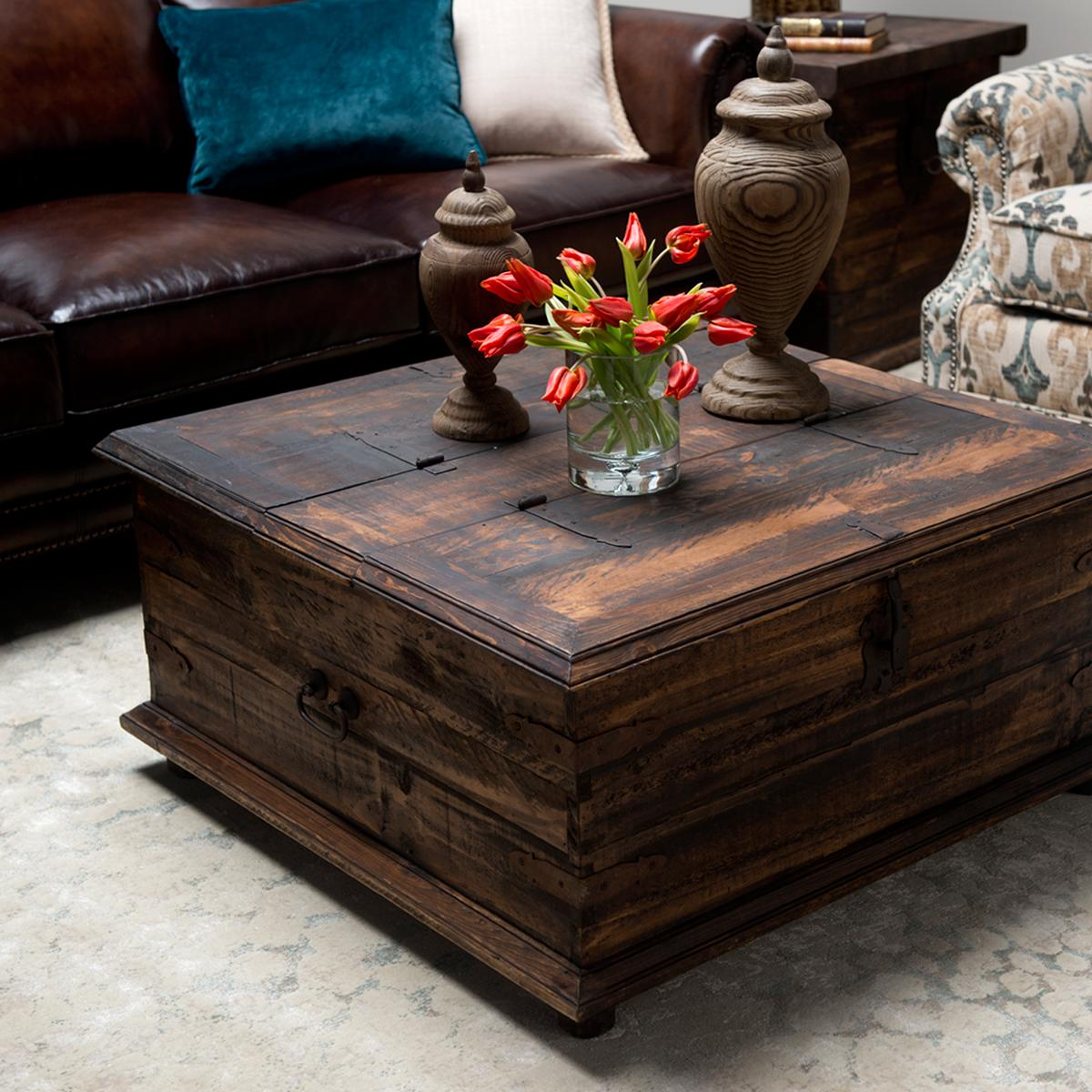 rustic coffee table double trunk rustic trunk coffee table for your living room