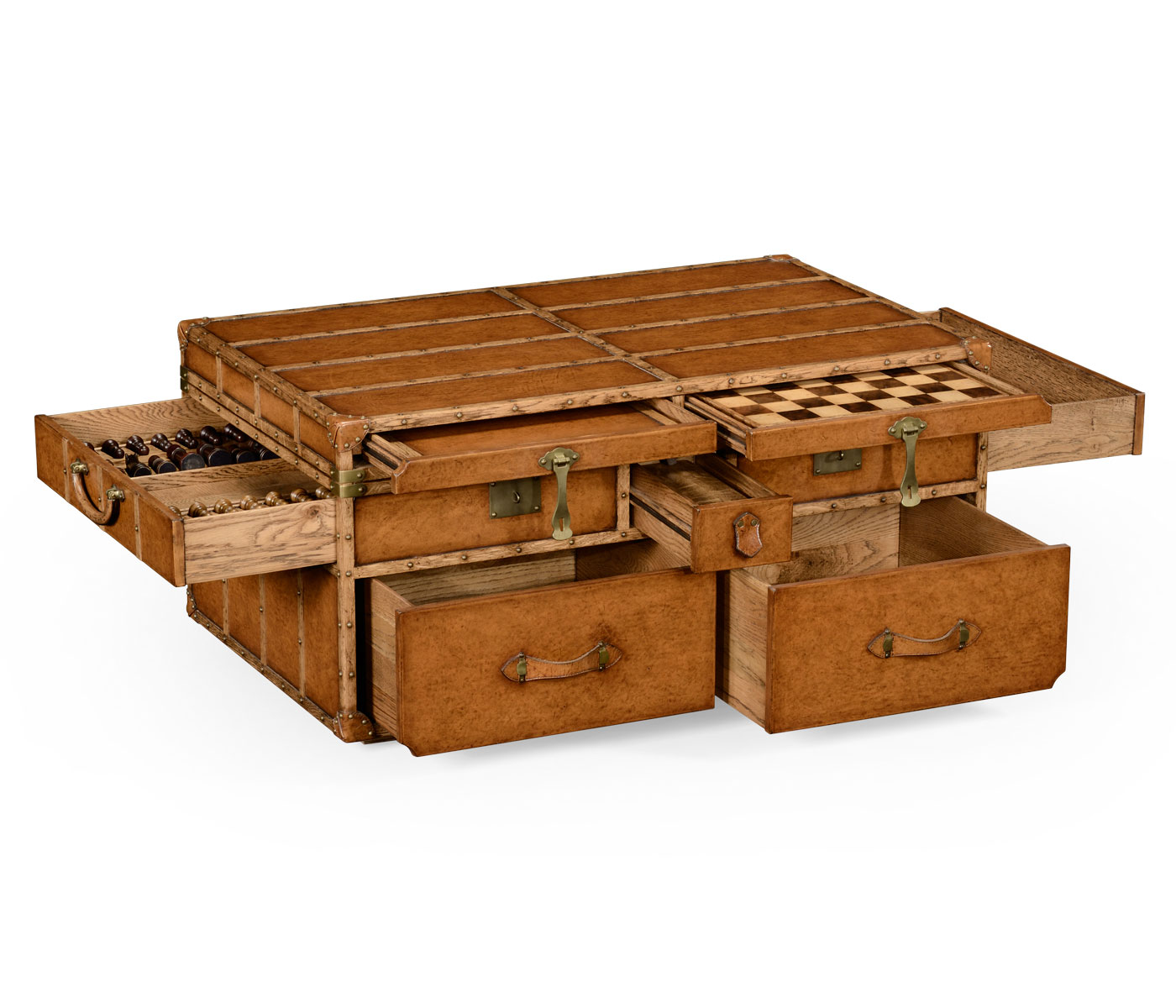 storage trunk coffee table drawers rustic trunk coffee table for your living room