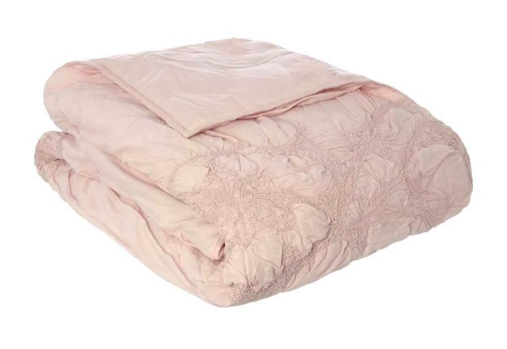 shabby chic soft pink voile bedspread super soft and plush simply shabby chic blanket