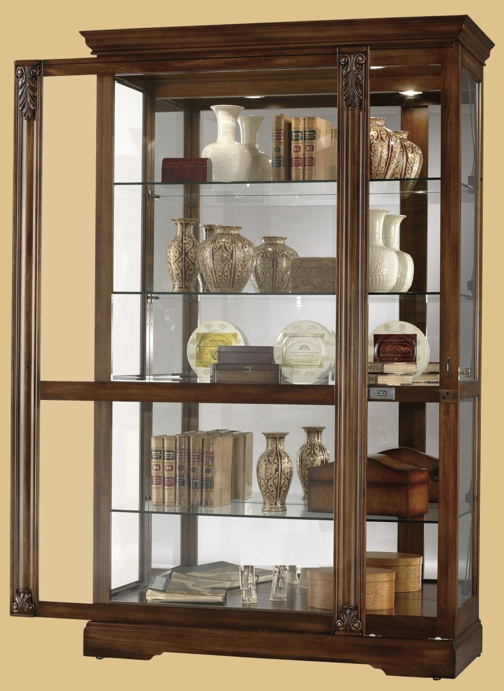 wooden-brown-mounted-big-cabinet-wall-mounted-curio-cabinet-and-what-to-consider-when-purchasing