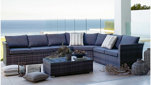Phuket Wicker Corner Sofa Set