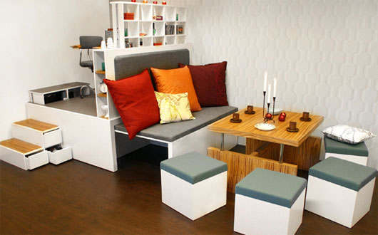 Small apartment furniture solutions homes furniture ideas for Small flat furniture ideas