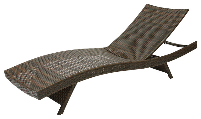 Lakeport Outdoor Wicker Chaise Lounge
