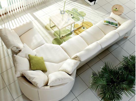 Leather Mid Century Sofa